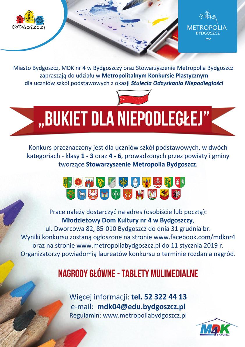 Konkurs Plastyczny Bukiet Dla Niepodleglej Metropolia Bydgoszcz